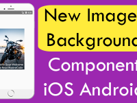 React Native New ImageBackground Component iOS Android Example