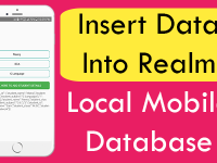 React Native Insert Data into Realm Local Database iOS Android Tutorial