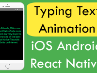 React Native Typing Text Animation iOS Android Example Tutorial