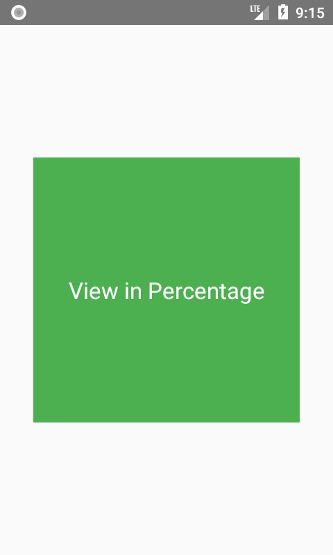 Set View Height Width in Percentage format
