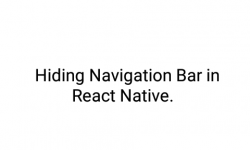 Hide Activity Navigation Bar