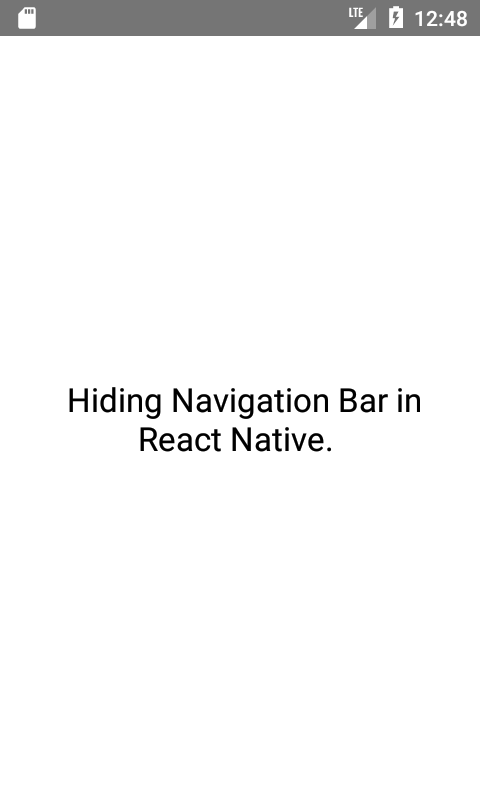 Hide Activity Navigation Bar