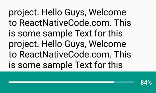 React Native Change Progress bar Progress on ScrollView