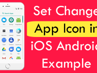 React Native Set Change App Icon in iOS Android Example Tutorial
