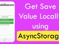 React Native Get Save Value Locally using AsyncStorage in App Memory Example Tutorial