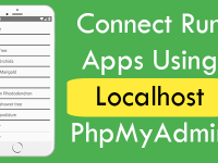 React Native Connect Run Apps Using Localhost PhpMyAdmin MySQL Database System