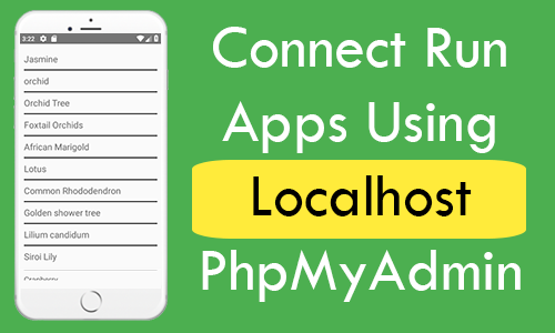 React Native Connect Run Apps Using Localhost PhpMyAdmin