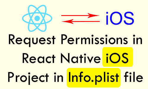 Request Add Permissions in React Native iOS Project in Info plist