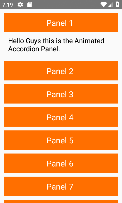React Native Animated Accordion Collapsible Expandable iOS