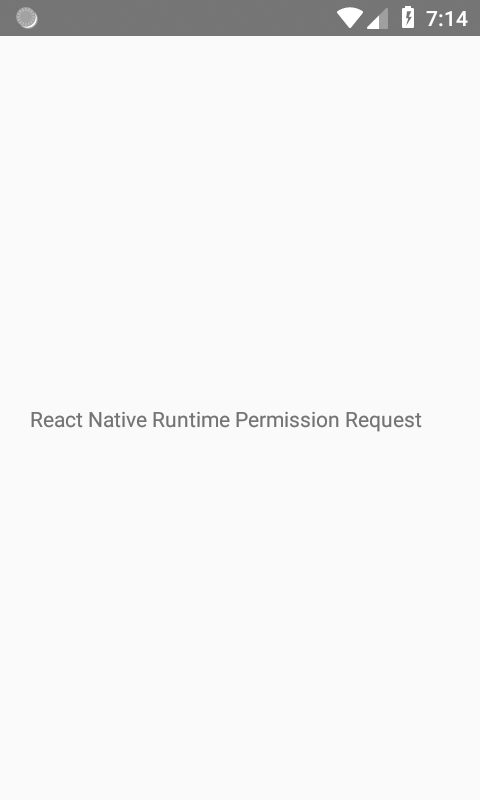 React Native Runtime PermissionsAndroid Request Android
