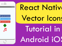 How to Use React Native Vector Icons Library in Android iOS App Example Tutorial