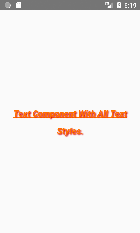 List of All Text Component CSS Style Props Explained