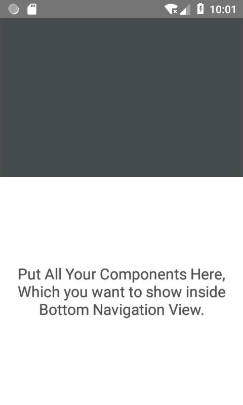 Material Bottom Navigation View