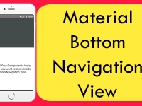 React Native Material Bottom Navigation View for Android iOS Example