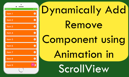 React Native Dynamically Add Remove Component using