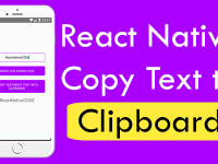 React Native Copy Text to Clipboard Android iOS Example