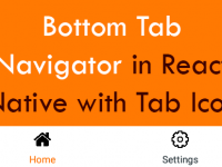Create Bottom Tab Navigation Navigator in React Native with Tab Icon