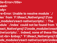 Error: Unable to resolve module `./index` from `\node_modules\react-native\scripts/ Solution