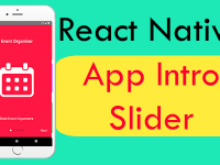 React Native Create App Intro Slider Welcome Walk-through Screen