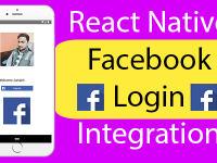 React Native Facebook Login Integration Example Tutorial Explained