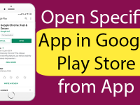 React Native Open Specific App in Google Play Store from App in Android