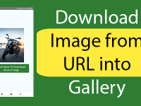 React native Download Image from URL into Gallery folder Android iOS Example