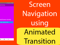 React Native Screen Navigation using Animated Transition React Navigation