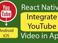 React Native Integrate YouTube Video in Android iOS App Example