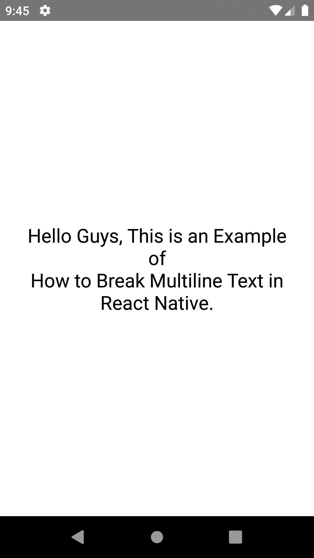 Create Multi Line Text Breaking Text Line From Middle in React Native