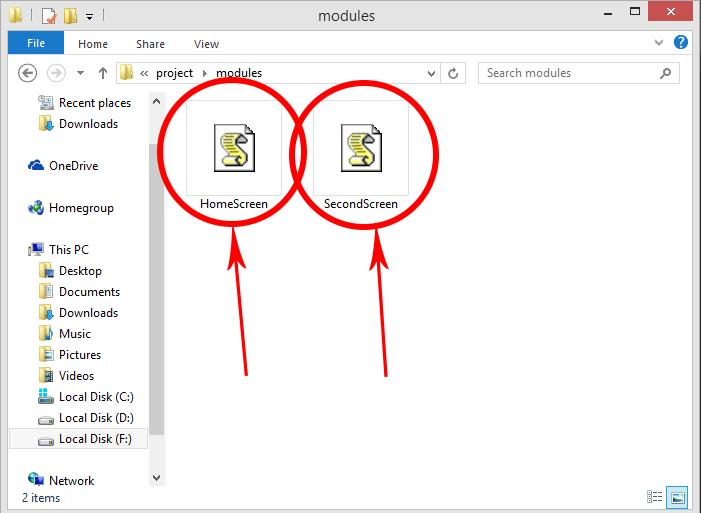 React Navigation 5.x Call External JS Screen Files in App.js File React Native