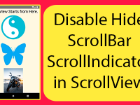 React Native Disable Hide ScrollBar ScrollIndicator in ScrollView