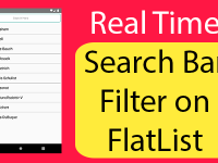 React Native Apply Real Time Search Bar Filter on FlatList JSON Data Example Tutorial