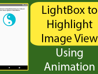 React Native LightBox to Highlight Image View Using Animation Android iOS Example Tutorial