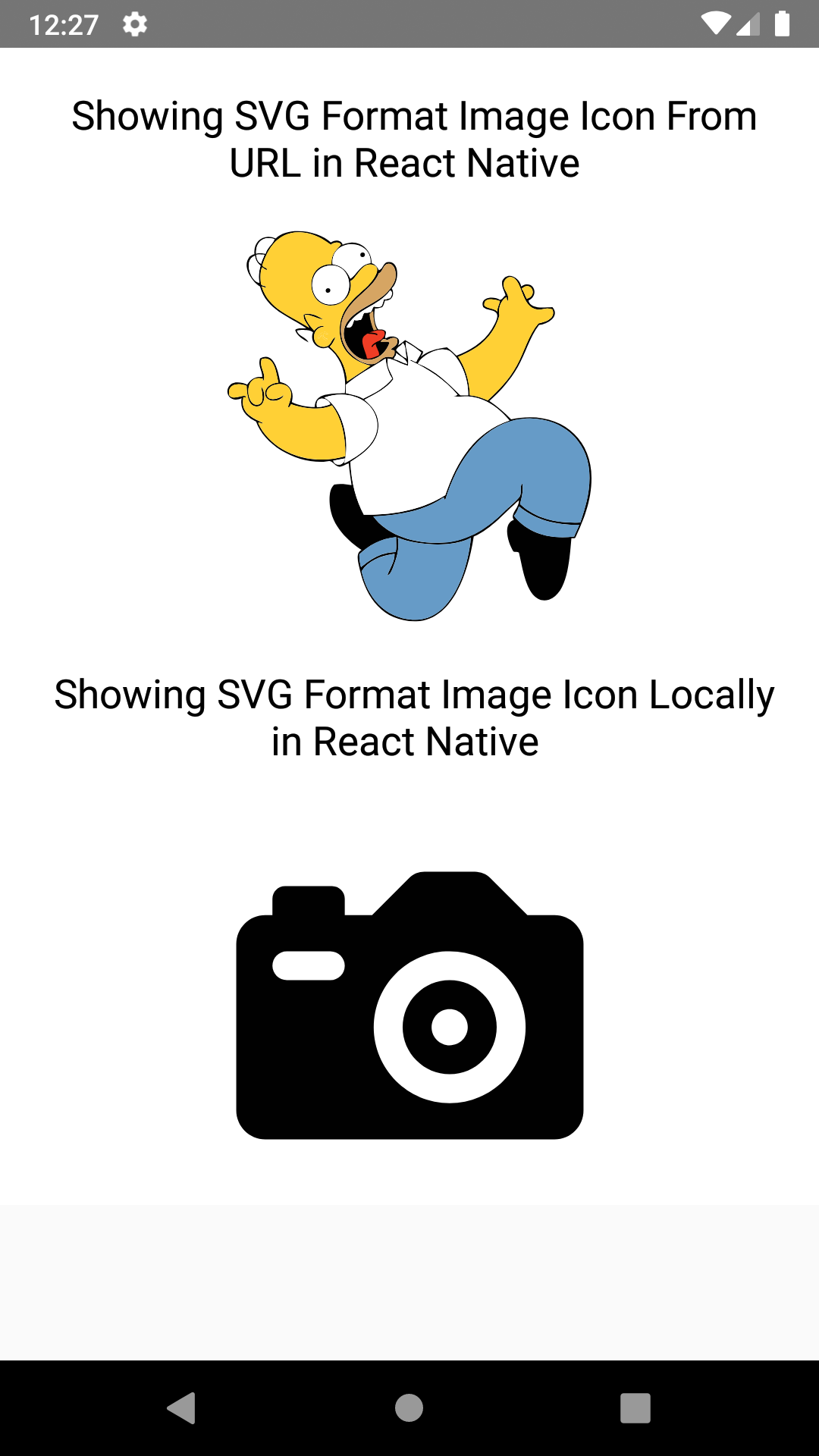 React Native Show SVG Image from Online URL and Local Resource Android iOS Example Tutorial