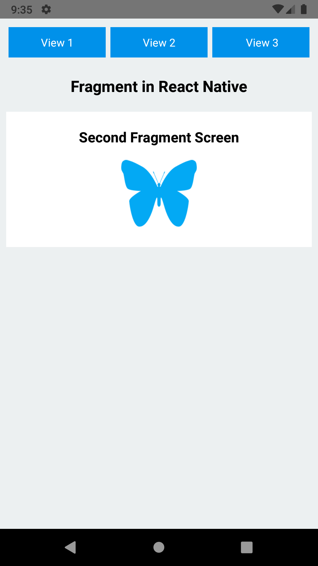 React Native Create Android Like Fragment for Android iOS Example Tutorial