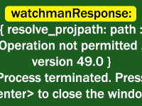 React Native MacOS Catalina Watchman Response Error Operation not Permitted