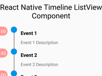 React Native Timeline ListView FlatList Android iOS Component Example Tutorial