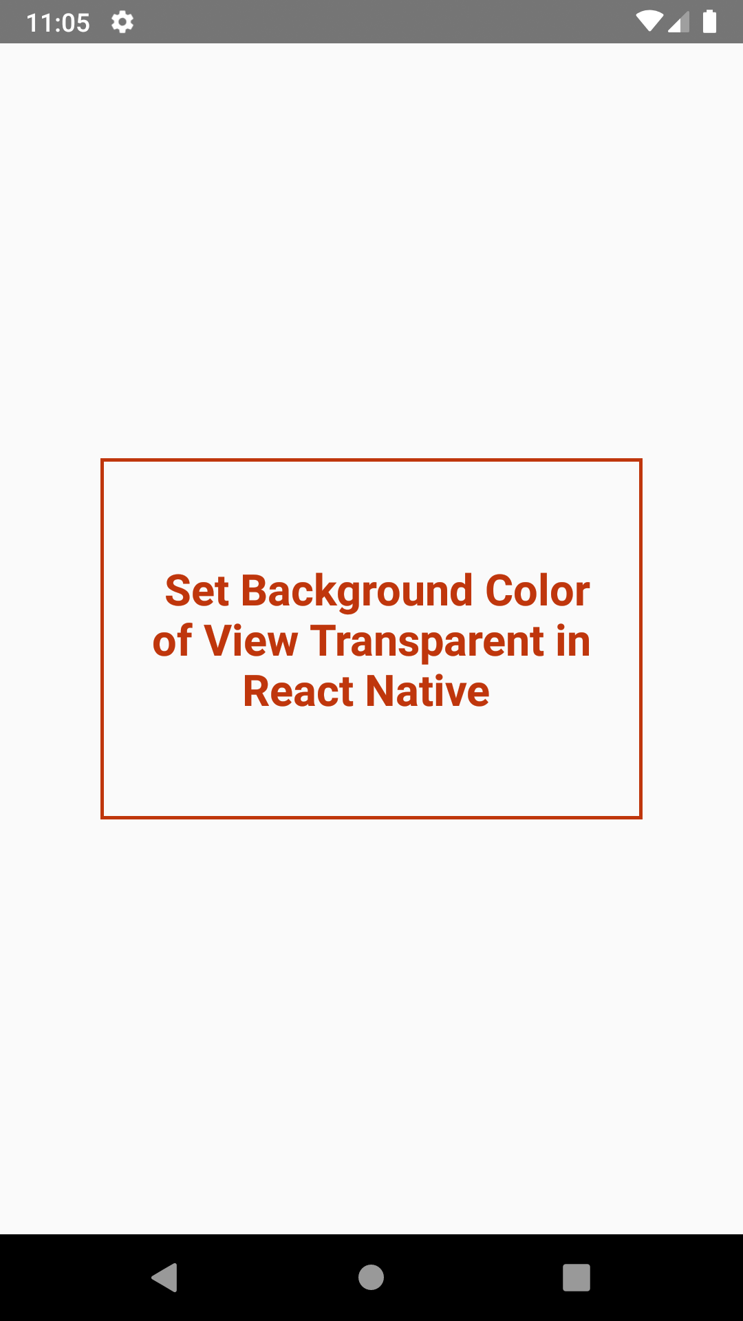 Create Transparent Background View in React Native Android iOS