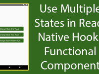 How to use Multiple States in React Native Hooks Functional Component