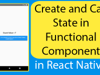Create and Call State in Functional Component in React Native Hooks