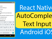 React Native AutoComplete Text Input Android iOS Example Tutorial