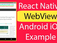 React Native WebView Android iOS Installation Example Tutorial