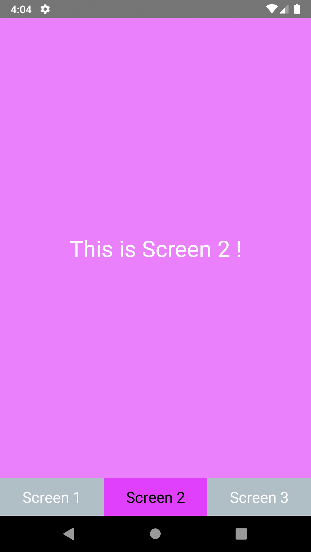 React Native Highlight Bottom Tab Bar Selected Tab Android iOS Example