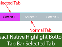 React Native Highlight Bottom Tab Bar Selected Tab Android iOS Example