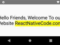 React Native Highlight Some Text Within Text String Yellow Color