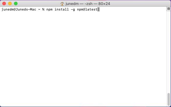 Upgrade NPM Node.js on MAC OS Latest Version Using Terminal