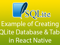Example of Creating SQLite Database Table in React Native