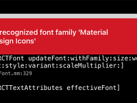 React Native Solve Unrecognized Font Family Material Design Icons Error in iOS MAC