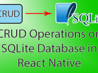 CRUD Operations on SQLite Database in React Native Example