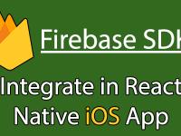 Configure Firebase SDK in React Native iOS Project Tutorial